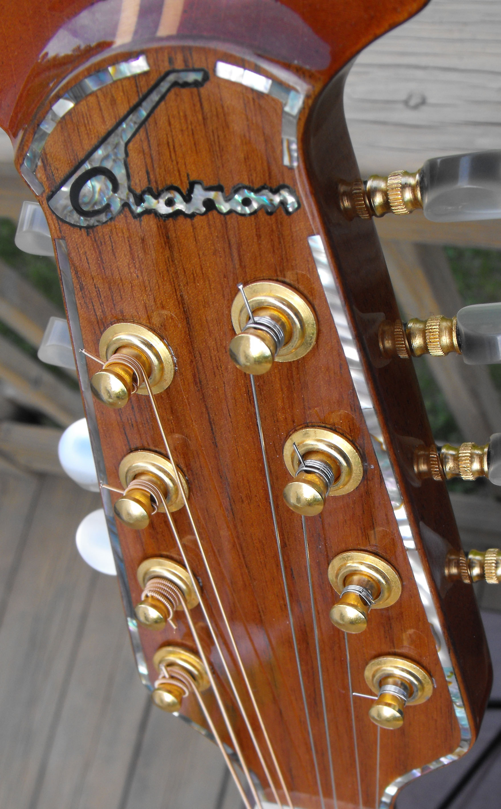 headstock closeup